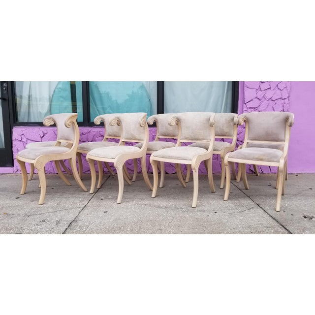 Neoclassical Klismos Style Dining Chairs - Set of 9 For Sale - Image 13 of 13