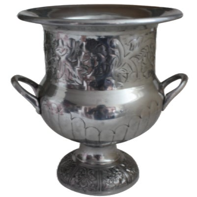 Etched Silver Metal Wine Bucket - Image 1 of 3