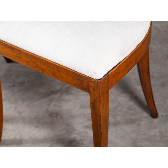 Antique 1890s Italian Empire Walnut Neoclassical Chairs - a Pair For Sale - Image 9 of 13