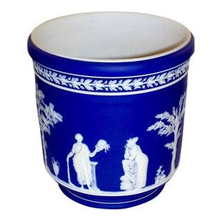 Early 19th Century Vintage Cobalt Blue Cachepot Jardiniere For Sale