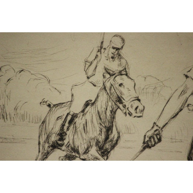 Four Polo Players Etching by Nat Lowell (1880-1956) For Sale - Image 4 of 8