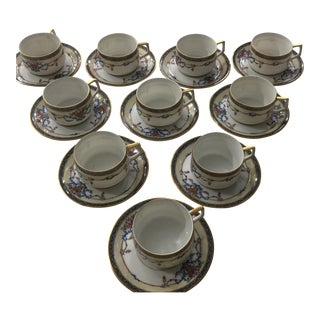 Vintage Fraureuth Demi-Tasse - Set of 10 For Sale