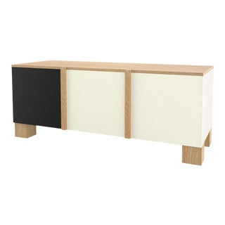 Contemporary 101 Storage in Oak and Black and White by Orphan Work, 2019 For Sale