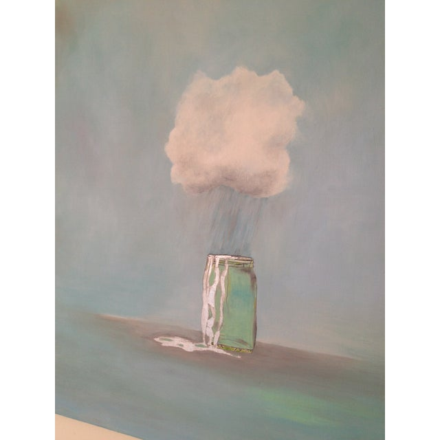 """Rain Catcher"" Oil Painting by Natalie Mitchell For Sale - Image 4 of 6"