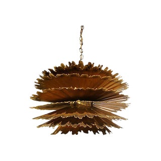 Tom Greene Chandelier Feldman Brutalist Hanging Light For Sale