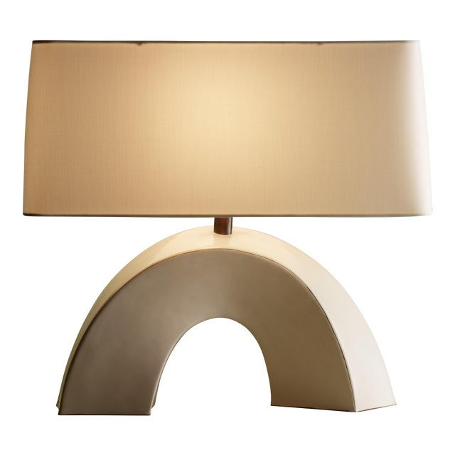 Arch Lamp - Cream Lacquer For Sale