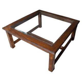 20th Century Arts and Crafts Square Oak Coffee Table For Sale