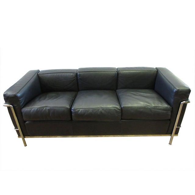 Cassina Le Corbusier Lc2 3-Seat Sofa For Sale - Image 12 of 12