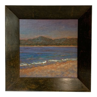 """Mid 20th Century """"Seascape"""" Oil Painting by Mary Reusch, Framed For Sale"""