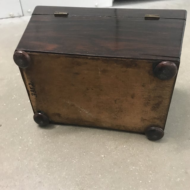 Antique Rosewood Double Caddy Box For Sale - Image 9 of 10