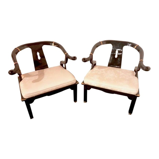 James Mont for Century Furniture Ming Horseshoe Chairs - a Pair - Image 1 of 6