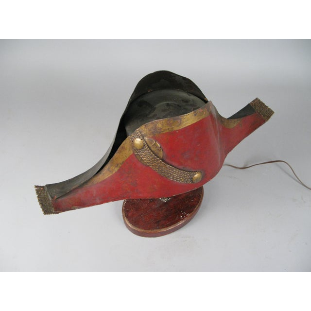French Antique French Napoleonic Chapeau Lamp For Sale - Image 3 of 8