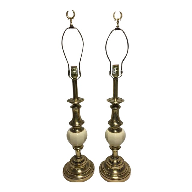 Vintage Stiffel Hollywood Regency Lamps - A Pair For Sale