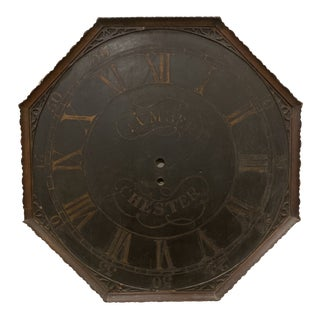 Victorian Wooden Clock Face For Sale