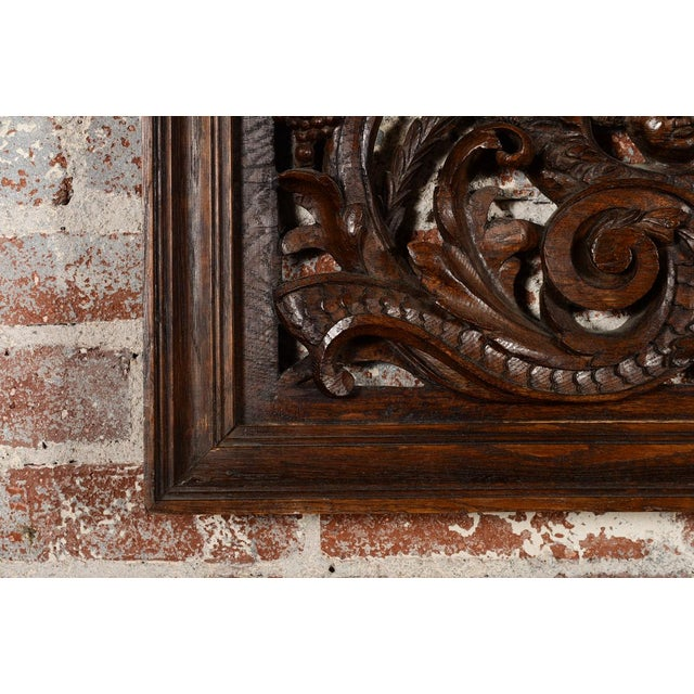 Antique Rococo Carved Wood Wall Panel For Sale - Image 10 of 11