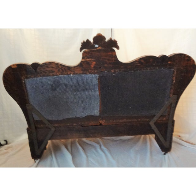 Early American Early 20th Century Antique Hand-Made Love Seat For Sale - Image 3 of 7