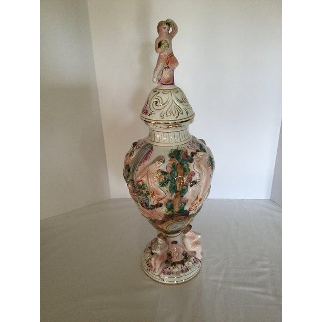 Capodimonte Dancing Ladies Urn - Image 2 of 5