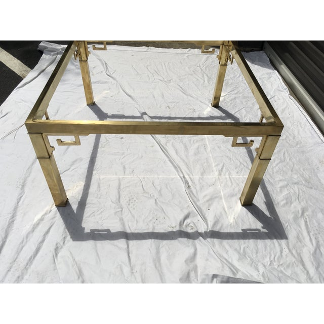 Mastercraft Italian Brass Coffee Table For Sale In Atlanta - Image 6 of 12