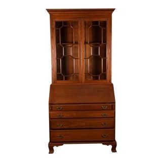Cherry Wood Secretary Bookcase For Sale