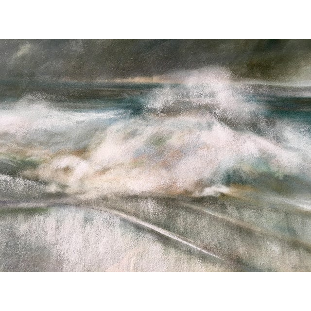 Vintage Seascape Acrylic Painting - Image 3 of 7