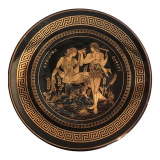 Decorated Gold Plate of Euridice and Orpheus