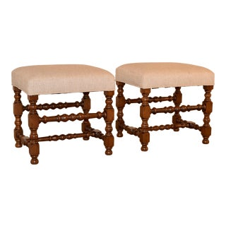 Pair of 19th Century Turned Stools For Sale