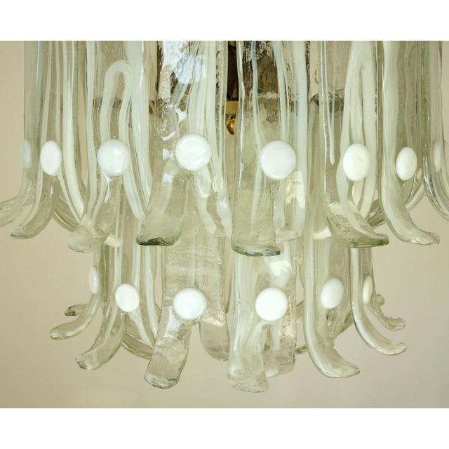 Mid 20th Century Petals Chandelier by Mazzega For Sale - Image 5 of 10