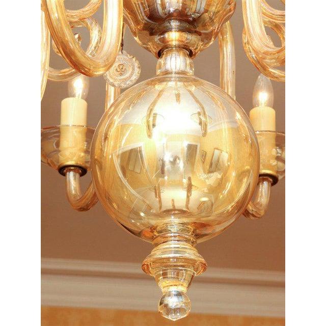 Czechoslovakian Glass Chandelier For Sale In New York - Image 6 of 7