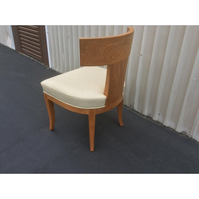 2000 - 2009 Mid Century Style Ceres Chair With Leather Seat by Ironies For Sale - Image 5 of 11