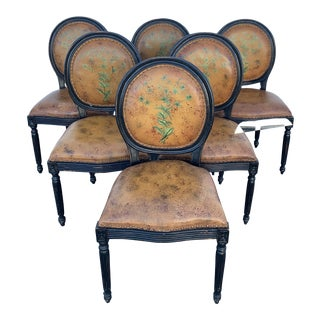 Louis XVI Dining Chairs- Set of 6 For Sale