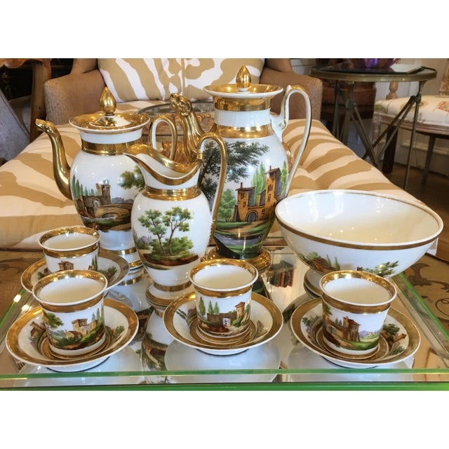 Antique Old Paris Porcelain Coffee Set - 12 Pieces - Image 2 of 7