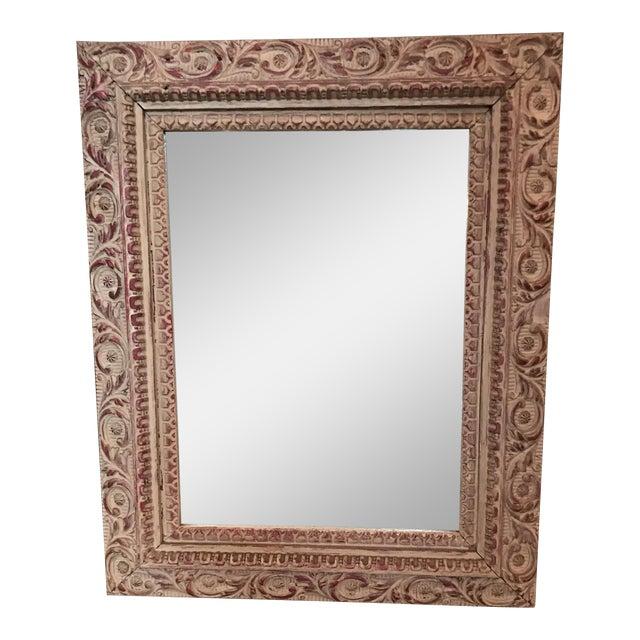 Vintage Carved Wood Mirror - Image 1 of 6