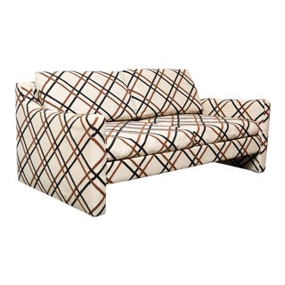 Selig Mid Century Modern Compact Sofa For Sale