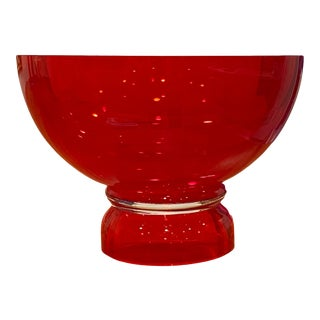 Waterford Ruby Red Footed Bowl For Sale