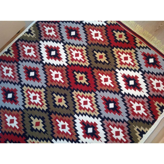 Reversible Kilim Inspired Rug - 3′11″ × 5′11″ - Image 9 of 11