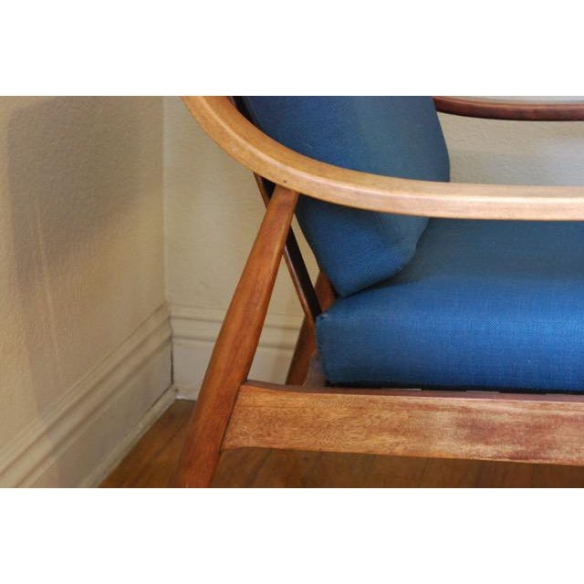 Danish Modern Vintage Lounge Chair With New Upholstery by Peter Hvidt - Image 3 of 8