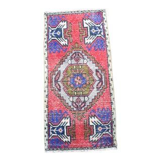 1960s Vintage Oushak Handmade Small Rug For Sale