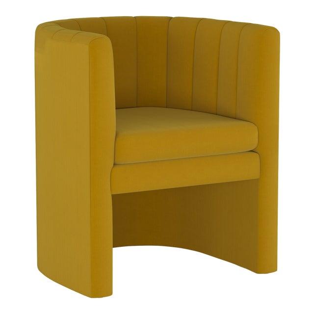 Barrel Chair, Monaco Citronella For Sale