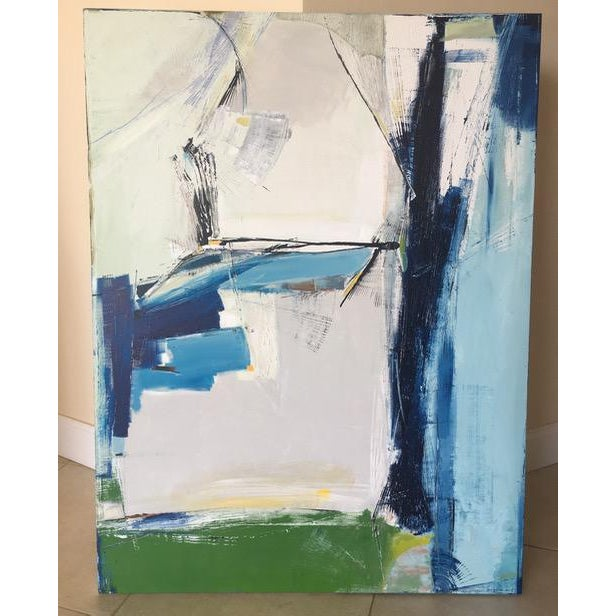 Contemporary Sapphire Painting - Image 4 of 5