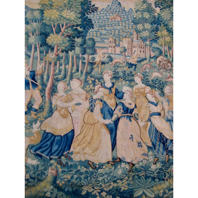 Large 16th Century Flemish Tapestry Wall Hanging For Sale - Image 4 of 13