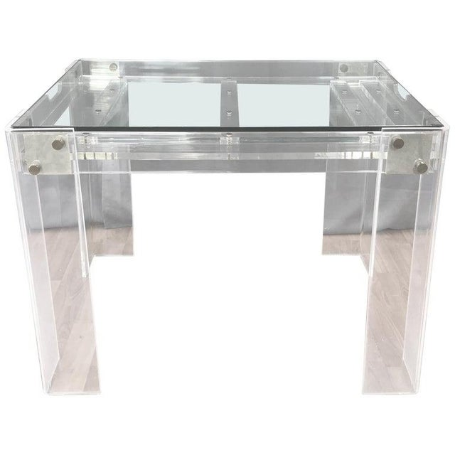 Lucite and Brass Backgammon Game Table in the Manner of Charles Jones For Sale - Image 13 of 13