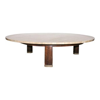 Edward Wormley for Dunbar Mid-Century Modern Coffee Table with Travertine Top For Sale