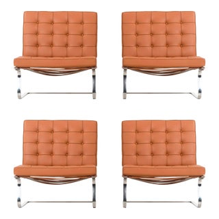Set of 4 Mies van der Rohe Tugendhat Chairs For Sale