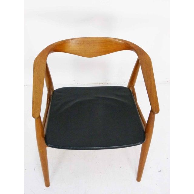 Danish Modern Teak Barrel Arm Chair - Image 3 of 10