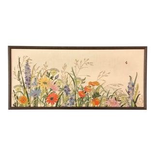 Embroidered Floral Artwork