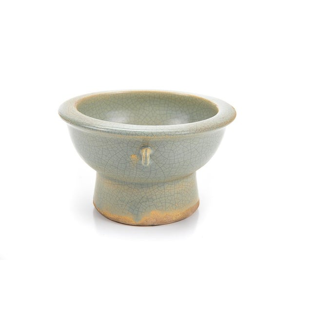 Chinese Antique Crackled Green Celadon Bowl - Image 2 of 9