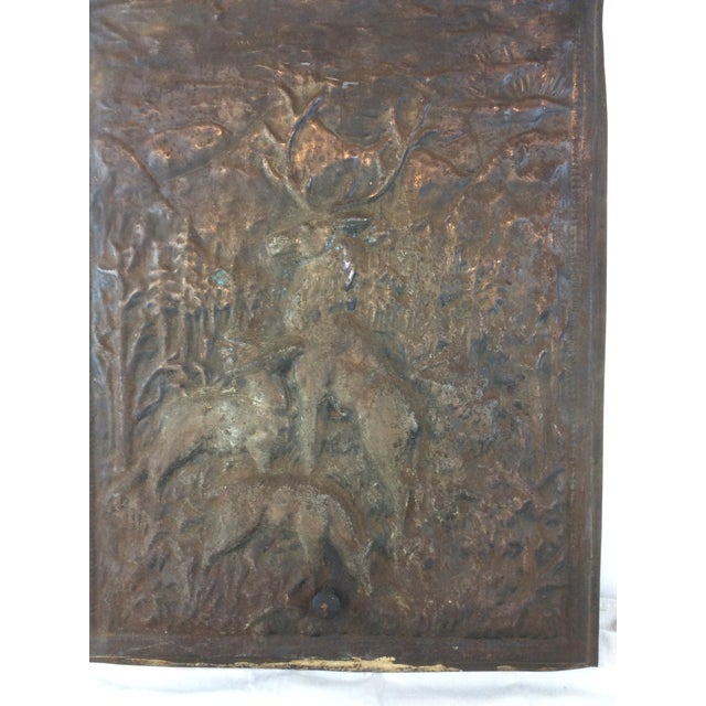 Antique Fireplace Screen >> Deer Scene Antique Fireplace Screen Chairish