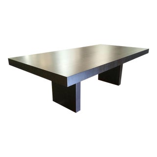 Mid-Century Modern Style Espresso Finish Dining Table For Sale