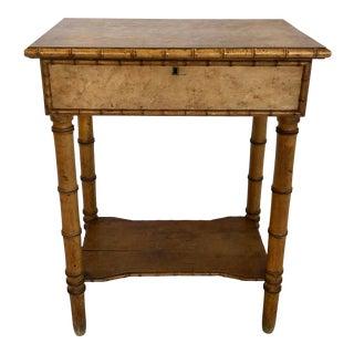 Antique English Birdseye Maple Vanity Table For Sale