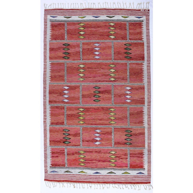 Vintage Carl Dagel Flat-Weave Swedish Carpet - Image 2 of 8